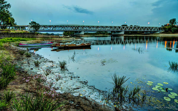 Digital Art - Bridge Over Serene River In Poland by Julis Simo