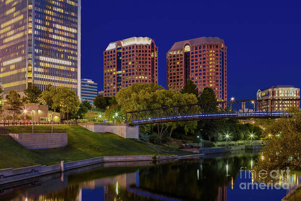Bluehour Photograph - Bridge Over Still Waters by Tim Wilson