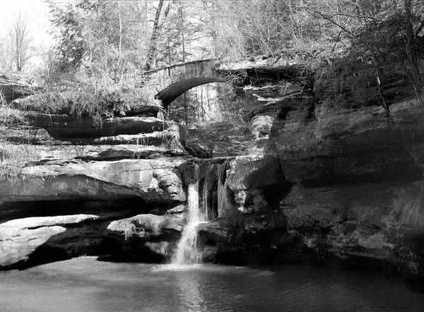Wall Art - Photograph - Stone Bridge Over The Falls by William Wetmore