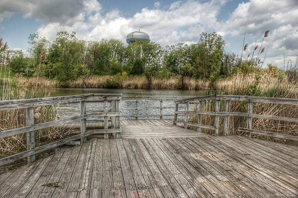 Photograph - 3001 - Bridge Overlooking Water Tower Park In Lapeer by Sheryl Sutter