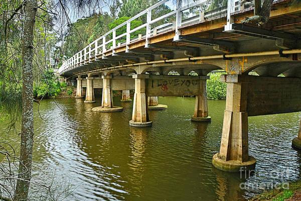 Wall Art - Photograph - Bridge Pillars And Reflections 2 By Kaye Menner by Kaye Menner