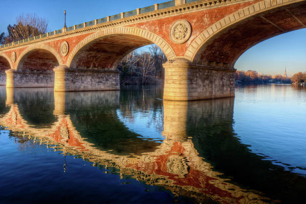 Ornate Photograph - Bridge Reflection On River by Andrea Mucelli