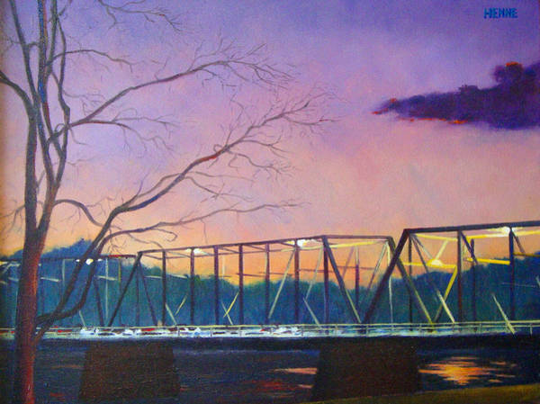 Painting - Bridge Sunset by Robert Henne