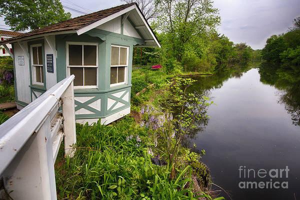 Bridge Tender House On The Canal Art Print
