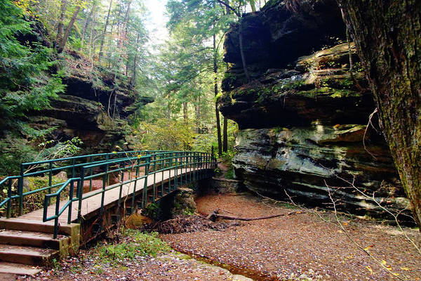 Photograph - Bridge Through The Cliffs by Mike Murdock
