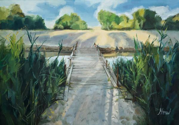 Bridge To Beach Art Print