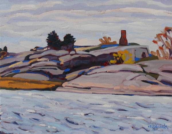 Stratocumulus Painting - Bridge To Chimney Island by Phil Chadwick