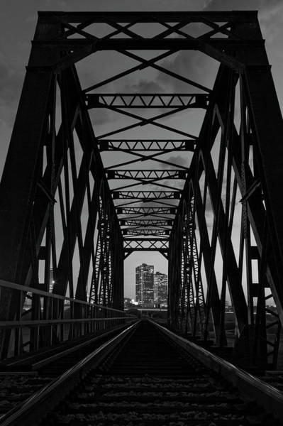 Photograph - Bridge To Fort Worth Bw by Jonathan Davison