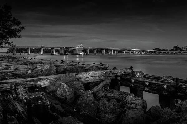 Photograph - Bridge To Longboat Key In Bw by Doug Camara