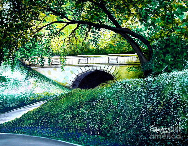 Painting - Bridge To New York by Elizabeth Robinette Tyndall