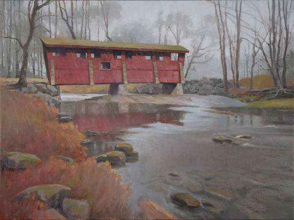 Wall Art - Painting - Bridge To Sleepy Hollow by Todd Baxter