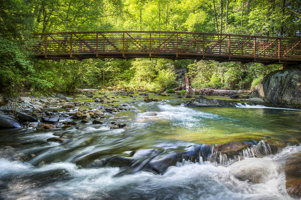 Whitewater Falls Photograph - Bridge To Tranquility by Debra and Dave Vanderlaan