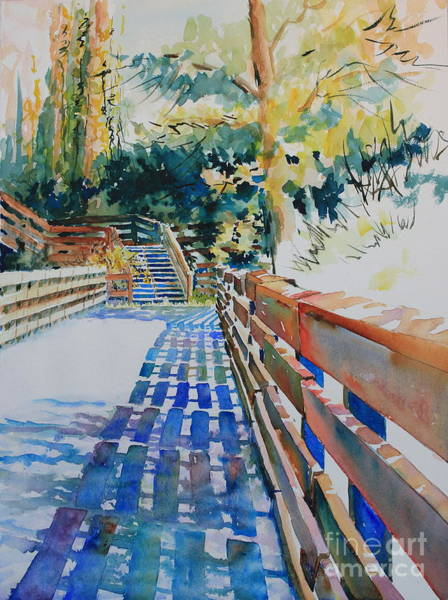 Central Texas Painting - Bridge To Tranquility Iv by Marsha Reeves