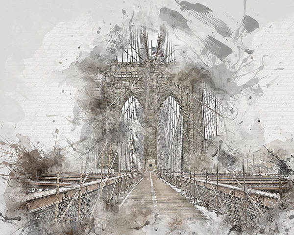 Wall Art - Mixed Media - Bridge Wide Open by Melissa Smith