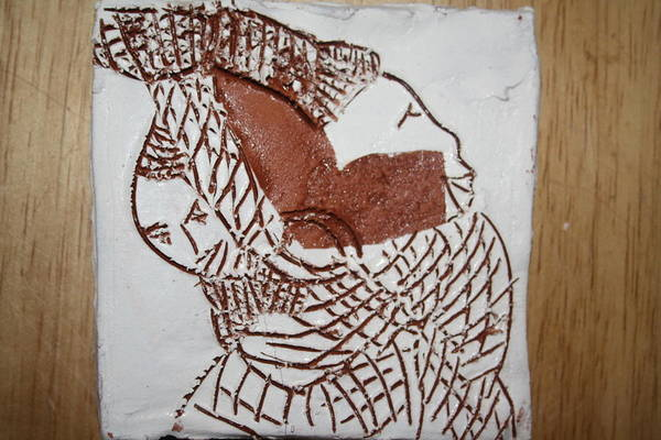 Ceramic Art - Bridged - Tile by Gloria Ssali