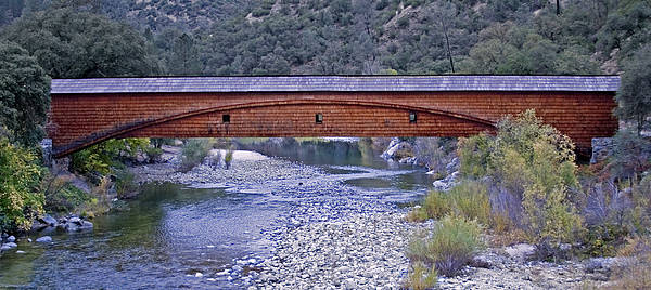 Yuba River Photograph - Bridgeport Covered Bridge by BuffaloWorks Photography