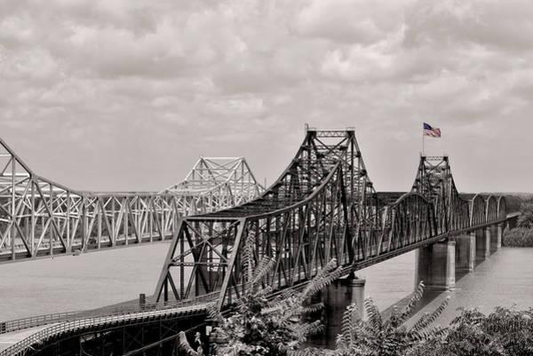 Mississippi River Wall Art - Photograph - Bridges At Vicksburg Mississippi by Don Spenner