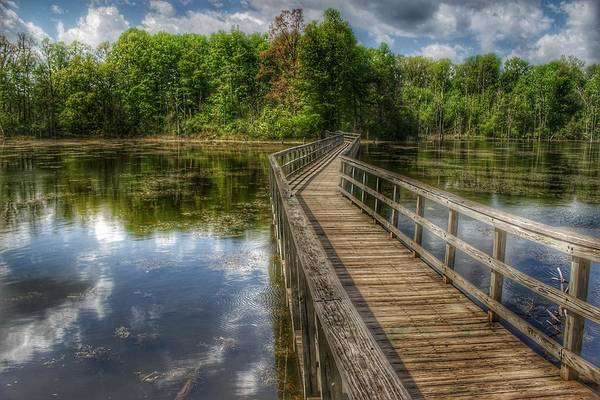 Photograph - 3009 - Linear Park Bridge Over Wetlands In Lapeer by Sheryl Sutter
