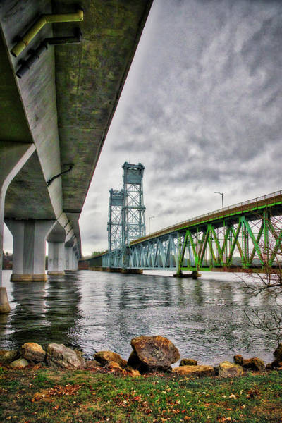 Photograph - Bridges Over The Kennebec by Guy Whiteley