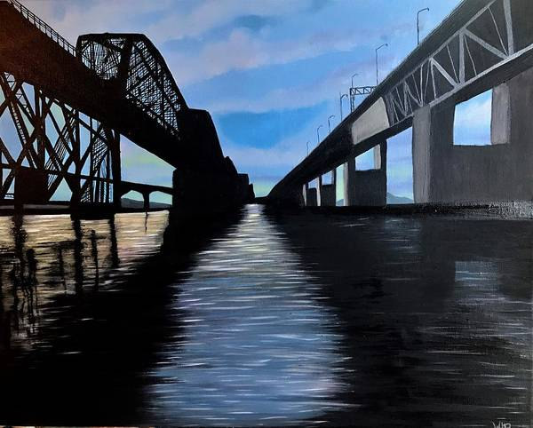 Wall Art - Painting - Bridges by Willy Proctor
