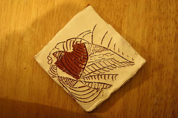 Ceramic Art - Bridget - Tile by Gloria Ssali