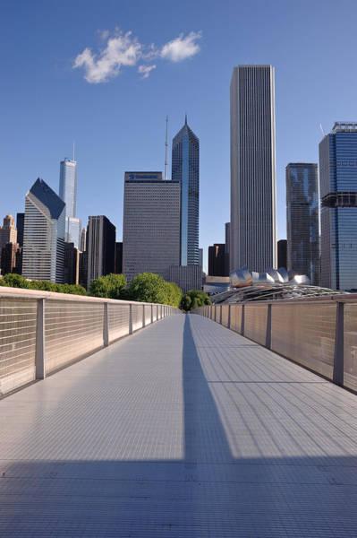 Illinois Art Photograph - Bridgeway To Chicago by Steve Gadomski
