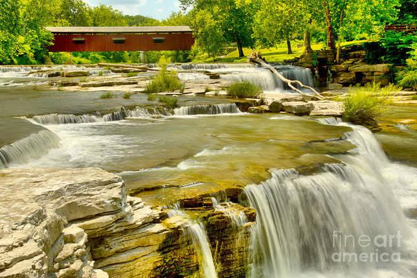 Photograph - Bridging Cataract Falls by Adam Jewell