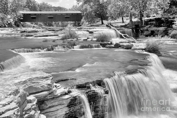 Photograph - Bridging Cataract Falls Black And White by Adam Jewell