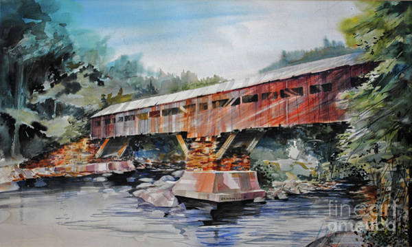 Painting - Bridging Woodstock by P Anthony Visco
