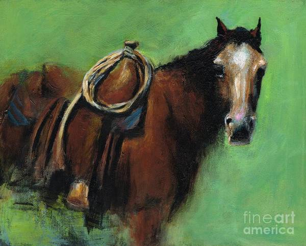 Painting - Bridle Ready by Frances Marino
