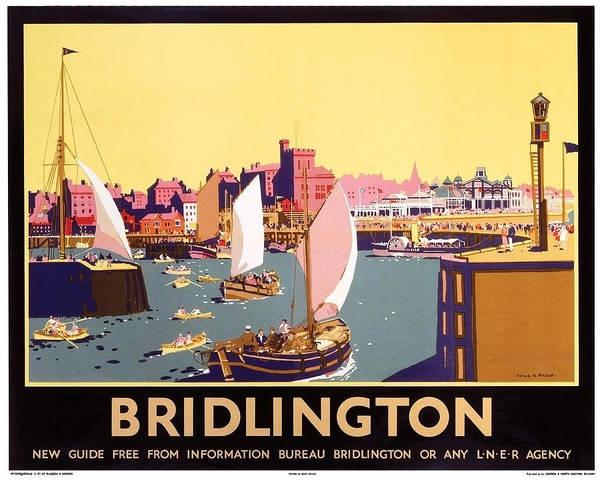 Bridlington Painting - Bridlington Port, Yorkshire,great Britain, Travel Poster  by Long Shot