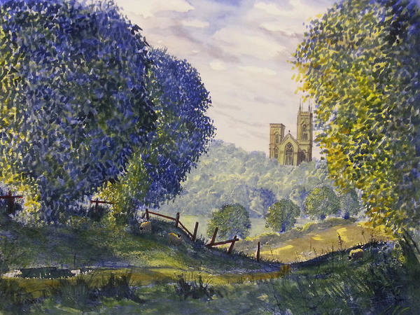Painting - Bridlington Priory From Woldgate On The Hockney Trail by Glenn Marshall