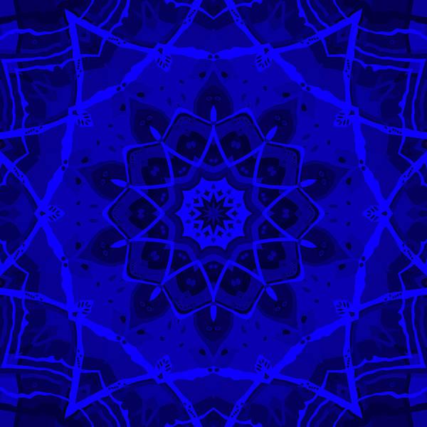 Psychedelia Digital Art - Brigadoon No. 1 Neon Blue by Joy McKenzie