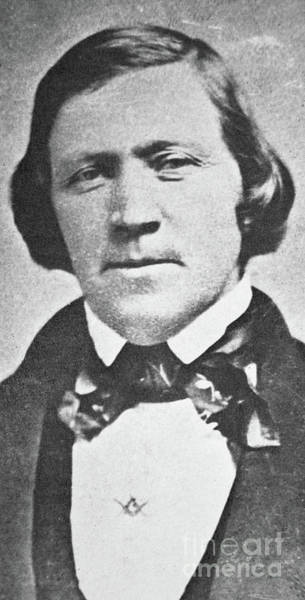 Pioneer School Photograph - Brigham Young  Second President Of The Mormon Church, Aged 43, 1844 by American School