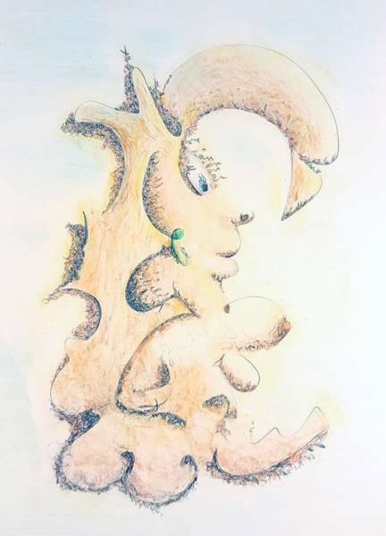 Drawing - Bright And Bushy by Dave Martsolf