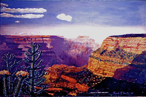 Painting - Bright Angel Point At The Grand Canyon by Frank Hunter
