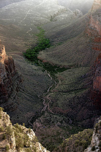 Photograph - Bright Angel Trail From The South Rim, Grand  Canyon by Pete Hendley