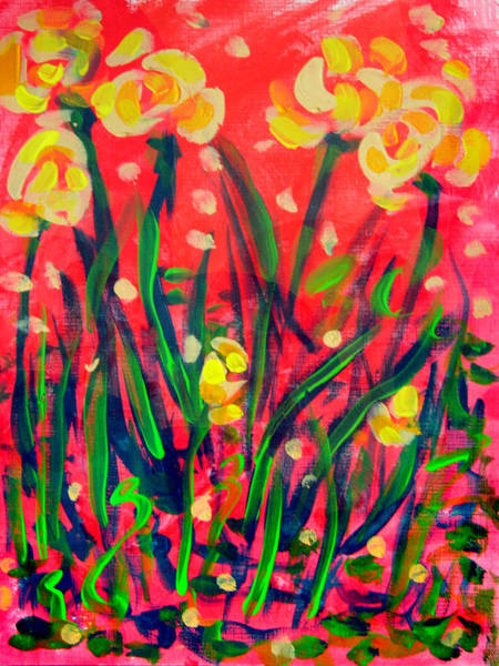 Wall Art - Painting - Bright Blooms by Laura Heggestad