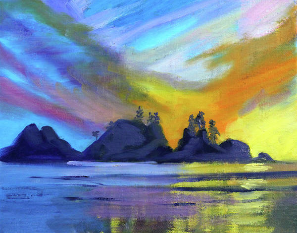Wall Art - Painting - Bright Coast by Nancy Merkle