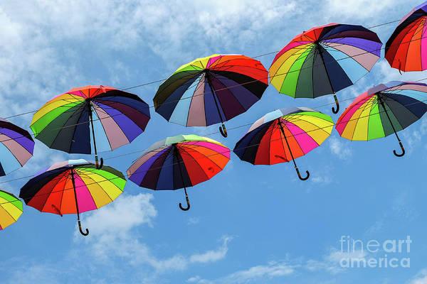 Bright Colorful Umbrellas  Art Print
