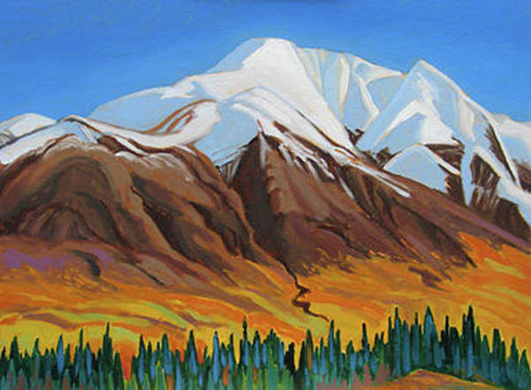 Wall Art - Painting - Bright Colors Jasper Park by Paul Gauthier