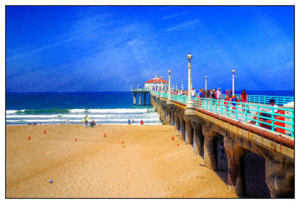 Photograph - Bright Day At The Pier by Michael Hope