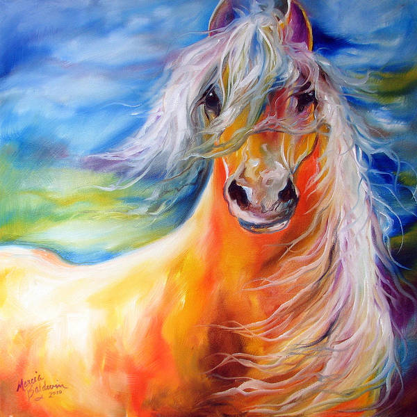 Wall Art - Painting - Bright Day Equine by Marcia Baldwin