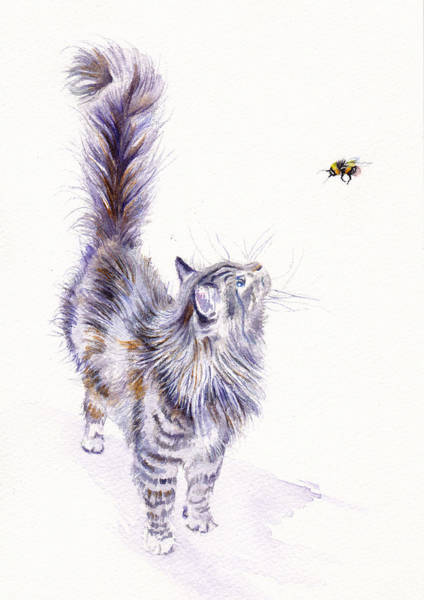 Wall Art - Painting - Bright Eyed And Bushy Tailed by Debra Hall