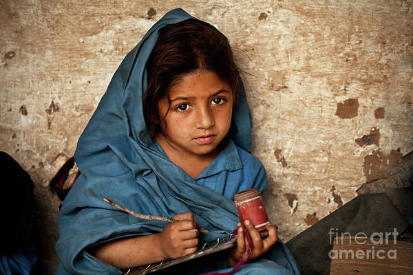 Photograph - Bright Eyed Girl by Awais Yaqub