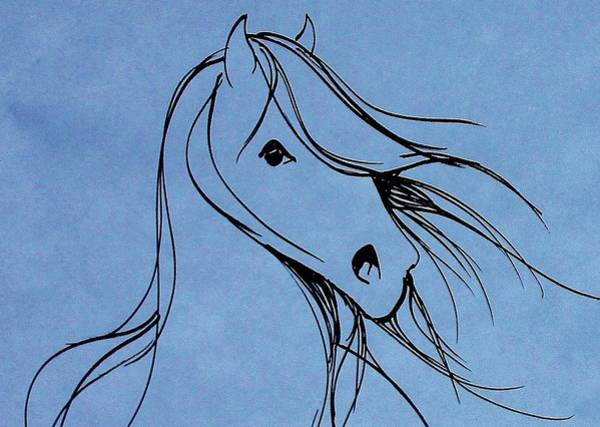 Warmbloods Drawing - Bright Eyes by Jennifer Fosgate