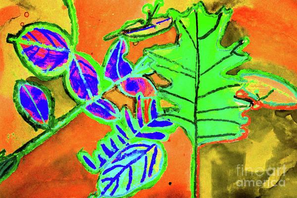 Painting - Bright Falling Leaves by Karen Adams