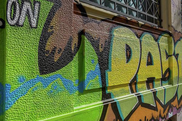 Wall Art - Photograph - Bright Graffiti On Textured Wall In Athens Psirri Neighborhood by Iordanis Pallikaras