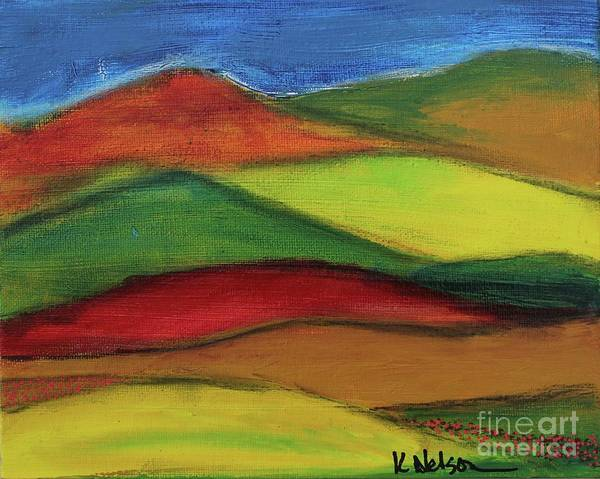 Painting - Bright Hills by Kim Nelson