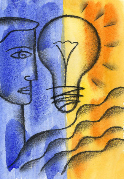 Wall Art - Painting - Bright Idea by Leon Zernitsky